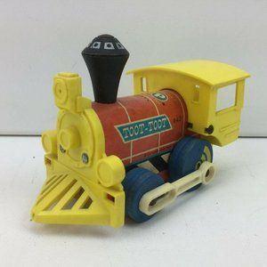 Vintage 1964 Fisher Price Wood Toot Toot Train